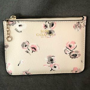Coach Wallet Cream with Pink and Gray Floral
